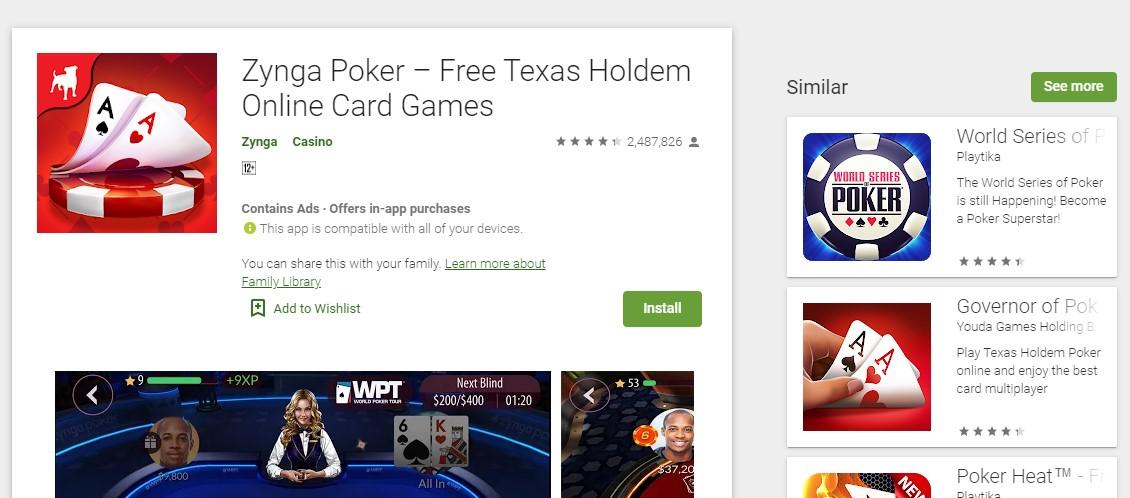 Applikasi Poker Free